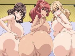 Three huge titted hentai babes fucked by guy