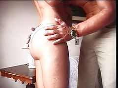 Hot mother getting ass waxed