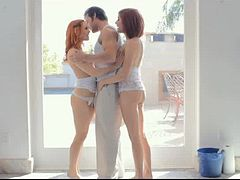 Amazing Threesome With The Redhead Dani Jensen And Her Friend