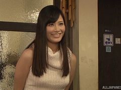 Japanese slutty housewife prefers a man's cum for dinner