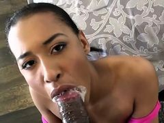 Ebony GF Sucks And Fucks Her Hung Boyfriend