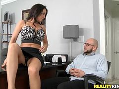 Gorgeous J Love Goes Hardcore At An Office With A Horny Man
