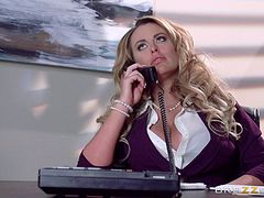 Big boobs babe moans loudly in an all-styles orgasmic pounding on The Corporate Ladder