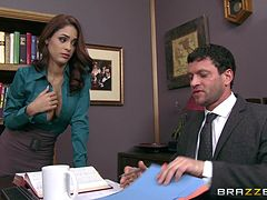 Jasmine Caro And Preston Parker Go Really Hardcore In An Office