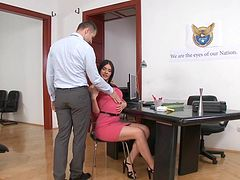 Anal at work with busty Kitana Lure