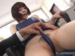 Airi Suzumura is masturbated by her coworkers
