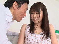 Jap girl with beautiful eyes loves fucking older men
