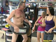 Outstanding Public Group Sex at an Electronic Store