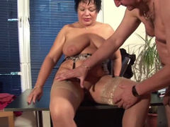 Mature German ladies sucking and fucking