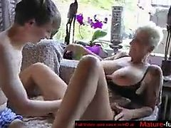 Hot older german lady with a young fan   Hot Schneckchen