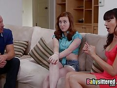 Babysittered - We Found Out the Babysitter Does Porn