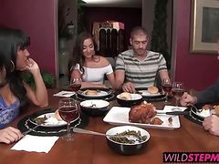 Mercedes Carrera shows NOT her step daughter how to fuck her
