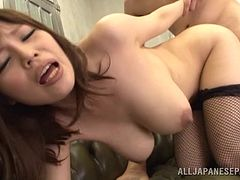 Two sex starved cocks banging this Japanese chick's twat in an awesome threesome scene