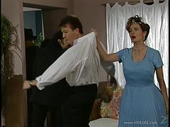 Tantalizing retro story scene leads to Hardcore pussy pounding