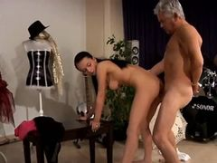 Blindfolded tied fucked After an grueling lesson the two get