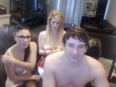 Amateur Threesomes lucky guy
