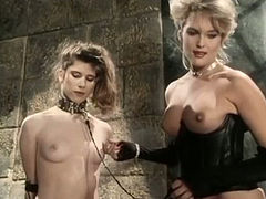 Gorgeous mistresses Kristara Barrington, Susan Berlin tease one handsome tied up dude