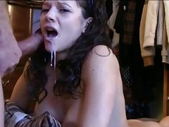 hot anal blow brunette shot in face