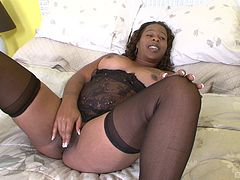 She's the delicate ebony girl who deserves a rough penetration