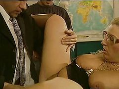 Horny Headmistress Gets Satisfied
