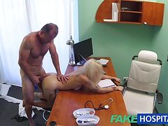 FakeHospital Tattooed Blonde Loves Doctors Dick
