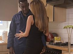 White girl with a perfect body wants to get shagged by the black guy
