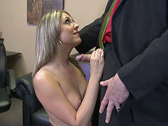 Flirty chick Nina Lane knows how to give a fantastic blowjob