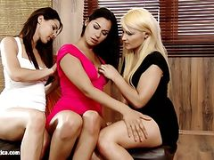 Trendy Trio by Sapphic Erotica - lesbian love porn with