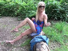 Sexy blonde Debbies public flashing and outdoor babes masturbation in parks for voyeur watchers and exhibitionist lovers