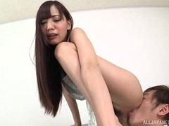 Doggy style action makes the skinny Asian chick as happy as possible