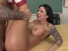 Mason Moore Loves Teaching With Her Big Tits and Pussy in Class