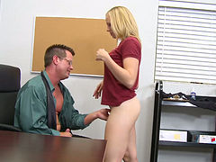 Classy blonde Tracey Sweet ends up having sex with her teacher