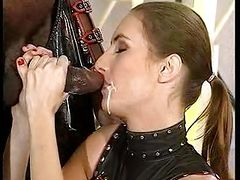Mistress and her slave blowing bbc