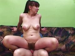 Old & Young - naughty boy fucks his hairy pussy mom