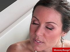 Cougar milf sucking stepsons cock