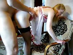 Bareback with blonde Russian escort