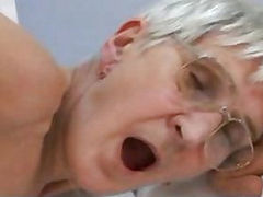 See this granny get drilled