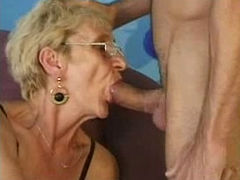 Skinny Old Gran Still Needs Young Cock!
