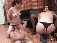 FFFM Hard anal and fist fucking session