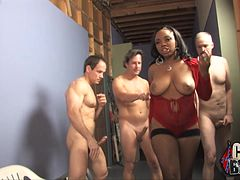 Delightful Stacie Lane Gets Gangbanged By A Bunch Of White Fellows