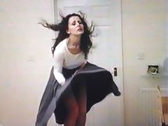Office Worker Skirt Prank  (slow mo) 5175