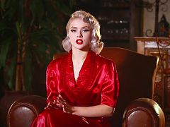 Wonderful burlesque blondie Mosh takes you to those times