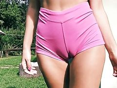 Big Ass Fit Body Fat Cameltoe Perky Tits Blonde Teen