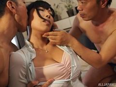 Black-haired lass from Japan getting screwed like never before