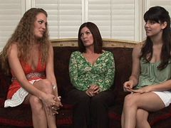 Come with me,relax and watch this amazing lesbians threesome scene on bed