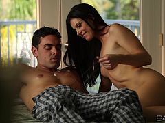 Brunette milf India Summer blows and gets fucked from behind