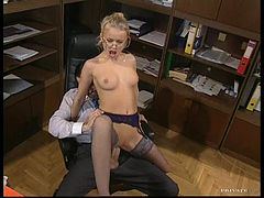 Glassed Anal Slut Dora Venter Gets Fucked and Facialized In The Office