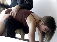 hard spanking with hand and hairbrush