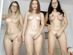 Three Teens Orgasm On Cam