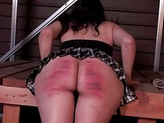 Naughty girl severely caned
